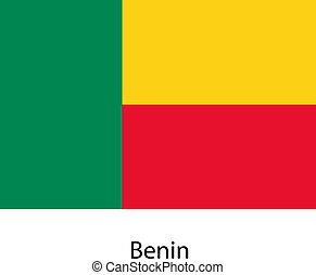 Flag of the country benin. Vector illustration. Exact...