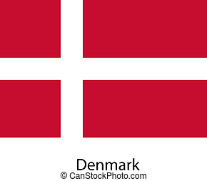 Flag  of the country  denmark. Vector illustration.