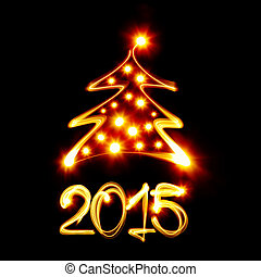 Christmas tree 2015 - Christmas tree and 2015 created by...