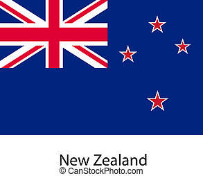 Flag of the country new zeland. Vector illustration. Exact...