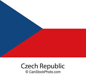 Flag  of the country  czech republic. Vector illustration.