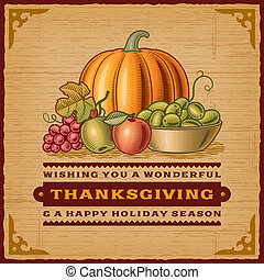 Vintage Thanksgiving Card - Vintage Thanksgiving card in...