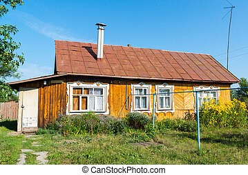 typical village house in the countryside