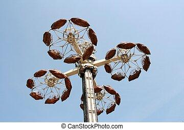 carrousel on blue sky