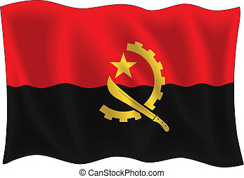 Angola flag - Vector illustration of Angola flag