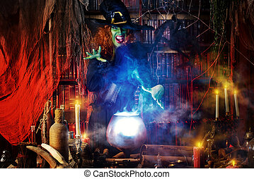 witchcraft lady - Fairy wicked witch in the wizarding lair....
