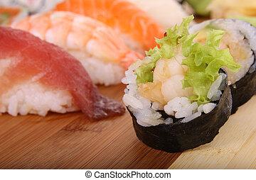 saudável, alimento,  sushi,  -