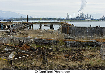 Industrial Wasteland - Photo of Industrial Wasteland with...