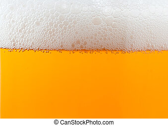 Light beer background with foam - Light beer background...