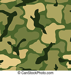 Abstract seamless camouflage pattern Vector illustration