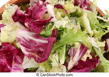 Fresh Spring Mix Lettuce as food background