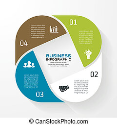 Infographic, diagram, presentation 4 options - Template for...