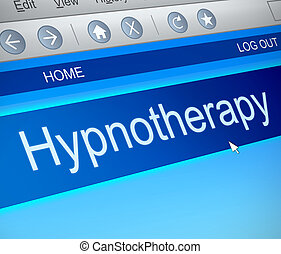 Hypnotherapy concept - Illustration depicting a computer...
