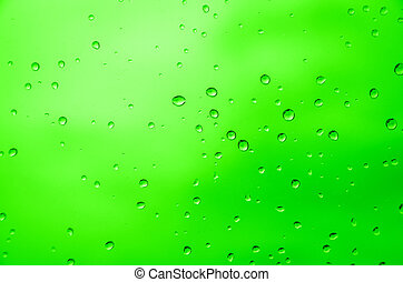 Drop water  - drop water with green  background