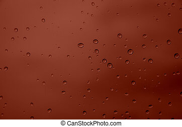 Drop water  - drop water with red  background