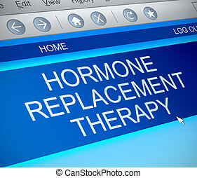 Hormone replacement therapy concept - Illustration depicting...