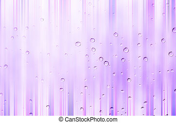 Drop water  - drop water with violet  background