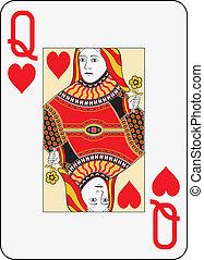 Jumbo index queen of hearts