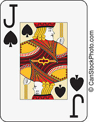 Jumbo index jack of spades