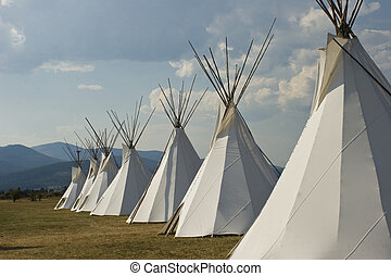 Native American Teepee Village - Eight Native American...