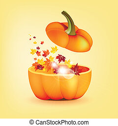 Pumpkin with eaves