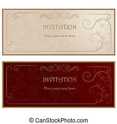 Invitation cards .
