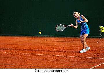 tenis, mujer