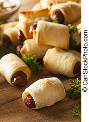 Homemade Pigs in a Blanket Ready to Eat