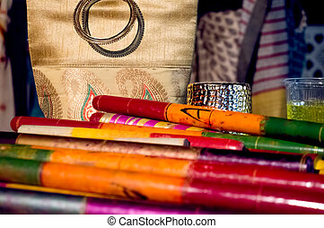 Dandiya sticks for navratri - Coloful dandiya sticks Dandiya...
