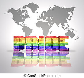 Word Pride with Rainbow Gay Flag