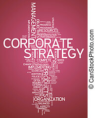 Word Cloud Corporate Strategy - Word Cloud with Corporate...