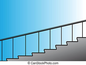 Stairs - Illustration of a simple figurative stairs rising...