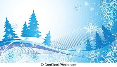 Inverno, azul, fundo