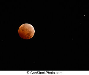 Blood Moon - Red moon during a total lunar eclipse