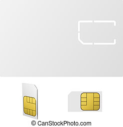 Blank SIM card vector template