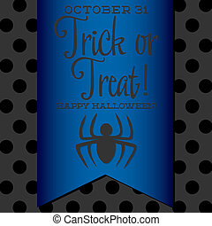 Spider Halloween sash card in vector format