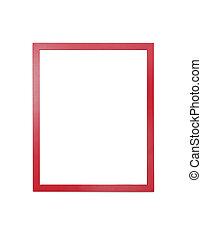 red  frame for painting or picture on white background
