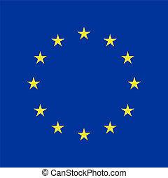 EU flag in closeup