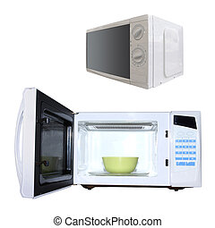 microwave oven - The image of microwave oven under the white...