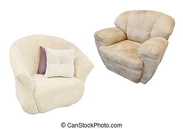 armchair isolated under the white background