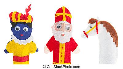 Handmade puppets Dutch Sinterklaas - Handmade puppets for...