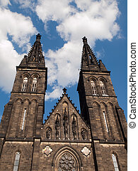 Basilica of St. Peter and Paul in Vysehrad, Prague, Czech...