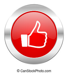 like red circle chrome web icon isolated
