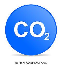 carbon dioxide internet blue icon