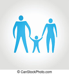 happy family. abstract composition conceptual vector