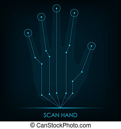 Scan HandScan Hand Vector illustration in eps10