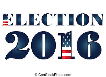 Election 2016 with USA Flag label - Election 2016 with USA...