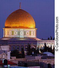 Al-Aqsa Mosque at Night, Jerusalem, Israel - Al-Aqsa Mosque...
