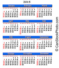 calendar for next 2015 year with bl - office calendar for...