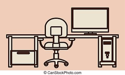 Furniture design over white background, vector illustration